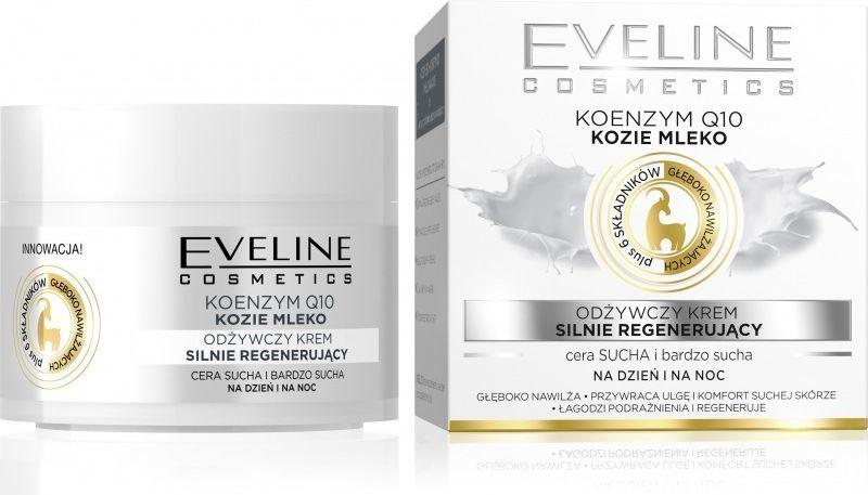Eveline Koenzym Q10 kozie mleko odżywczy krem silnie regenerujący na dzień i na noc 50ml 1