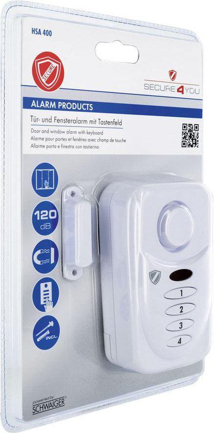Schwaiger Alarm do okien i drzwi (HSA400 532) 1