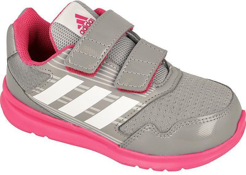 Adidas Buty dziecięce AltaRun CF Kids szaro różowe r. 27 (BA9412) ID produktu: 1379510