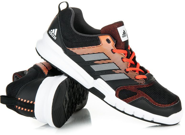 promo code d4767 156f6 6d578418833f Adidas Buty treningowe Essential Star 3 czarno-pomarańczowe r.