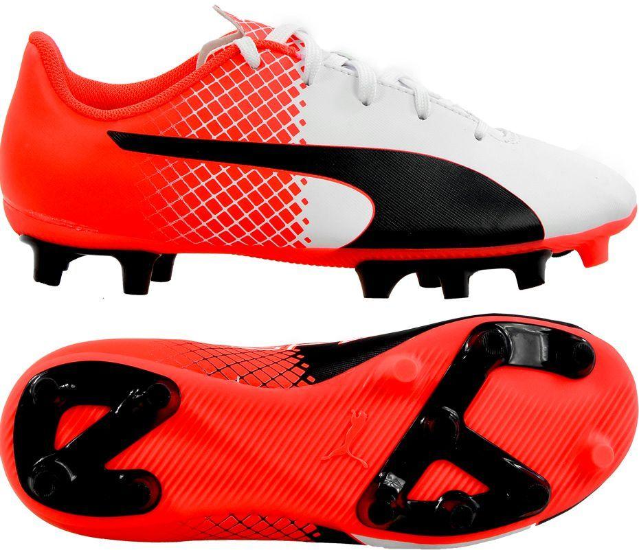 Buty piłkarskie Puma Evo Speed 1 FG biało czerwono