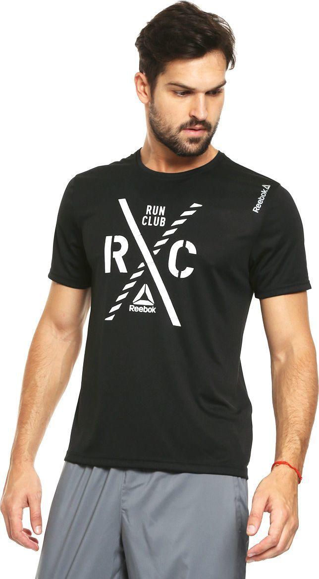 sprzedaż online taniej najlepiej sprzedający się Reebok Koszulka męska Running Essentials Short Sleeve Run Club M czarna r.  L (AX9842) ID produktu: 1384880