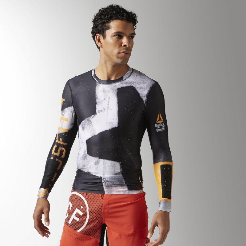 ee0f5709d Reebok Koszulka kompresyjna męska CrossFit Engineered Long Sleeve  czarno-szara r. XL (B45167)