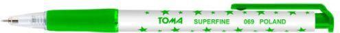 Toma Długopis Superfine 0,5mm zielony TOMA (134481) 1