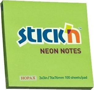 Stickn Notes samoprzylepny zielony neonowy (155274) 1