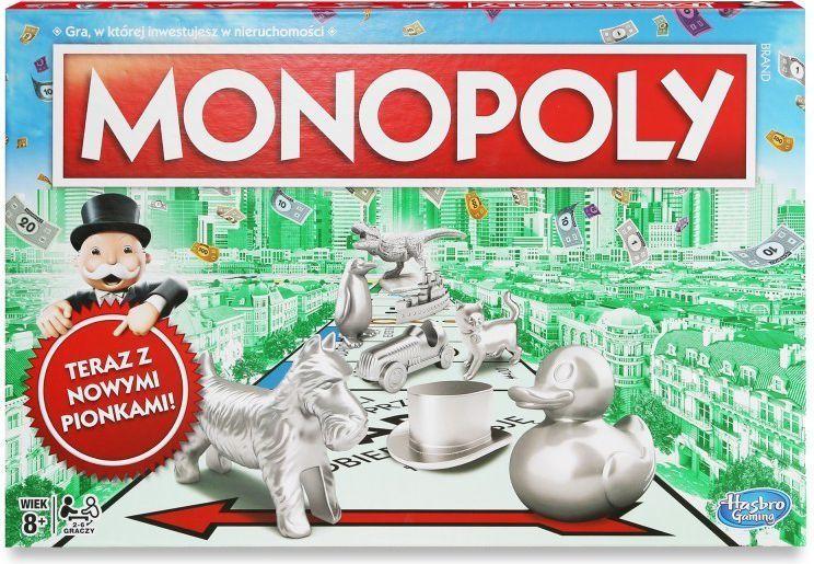 Hasbro Monopoly Klasyczne z nowymi pionkami (C1009) 1