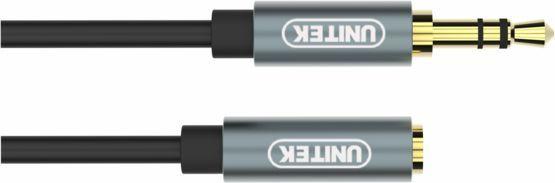 Kabel Unitek Jack 3.5mm - Jack 3.5mm 1m srebrny (Y-C932ABK) 1