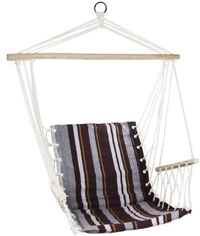 Royokamp  Hamak Fotel brazylijski 100x60 cm z wszytą poduszką i podłokietnikami brązowy 1