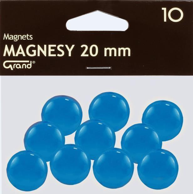 Grand Magnes 20mm niebieski 10szt GRAND - 189196 1
