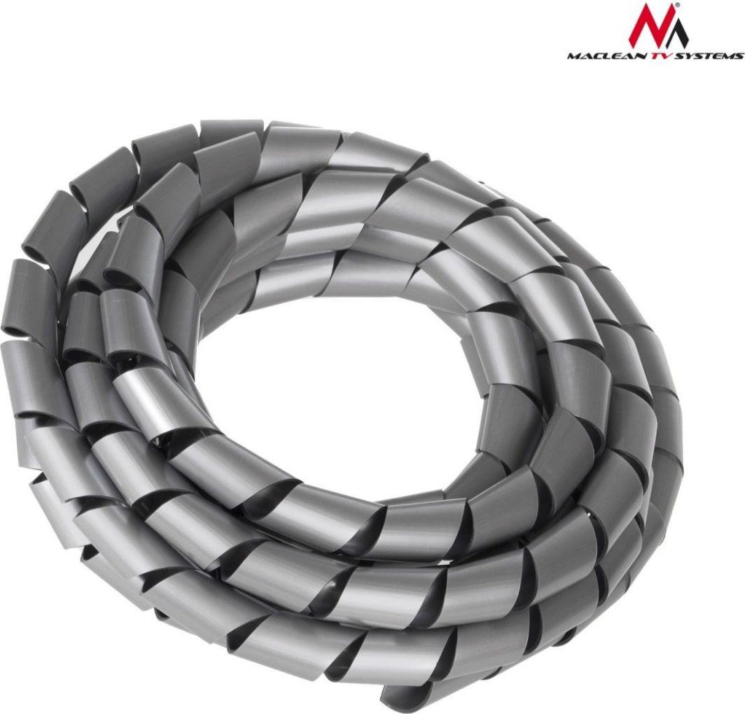Organizer Maclean Osłona maskująca na kable (14.6*16mm) 3m, srebna, spirala (MCTV-686S) 1