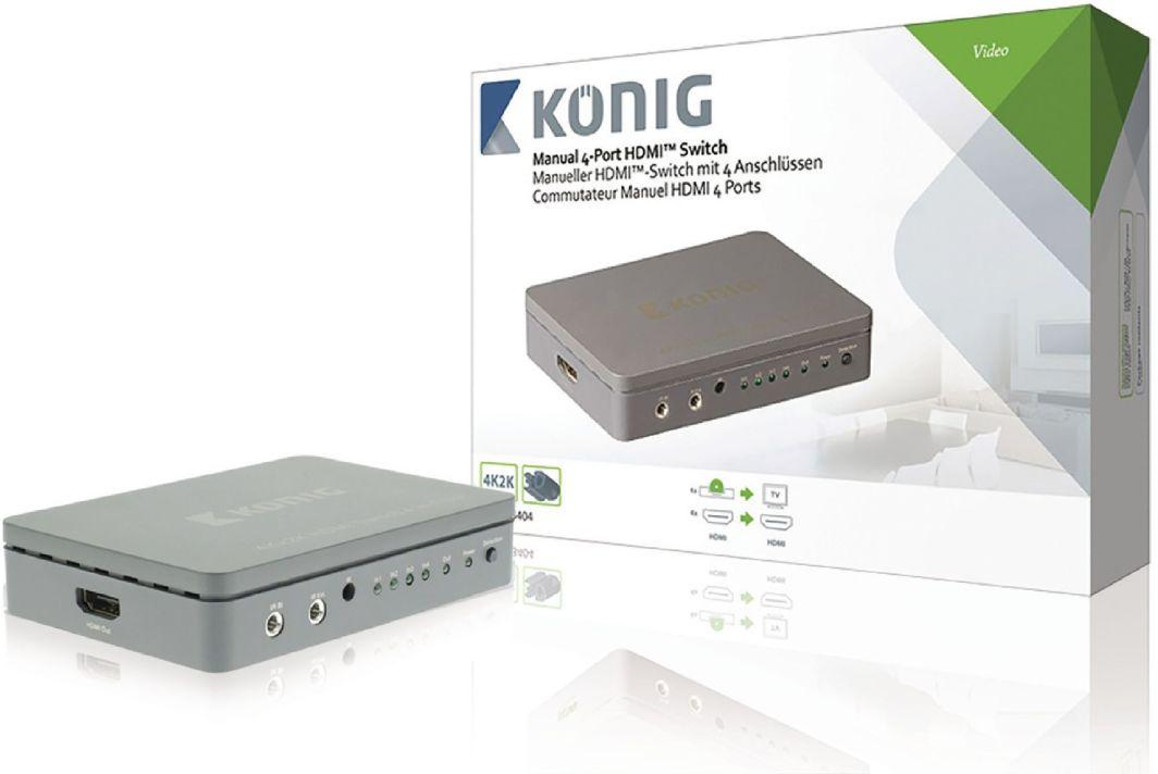 Koenig  Switch 4xHDMI szary (KNVSW3404) 1