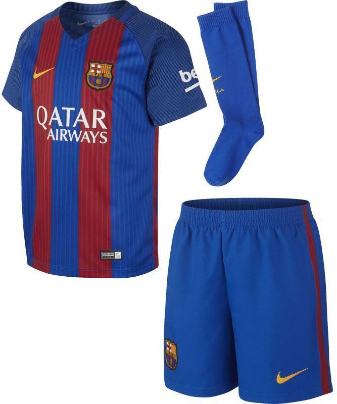 8c3243344 Nike Komplet piłkarski FC Barcelona Stadium Home Kids niebiesko-bordowy r.  S (776733-415) w Sklep-presto.pl