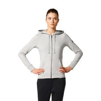 Adidas Bluza Damska Adidas Essentials Solid Full Zip Hoodie szary r.S ID produktu: 1461183