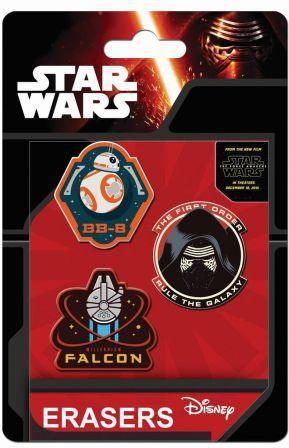 Eurocom Zestaw 3 gumek do ścierania Star Wars (212746) 1