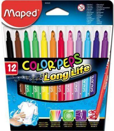 Maped Flamastry Colorpeps trójkątne 12 kolorów (205569) 1