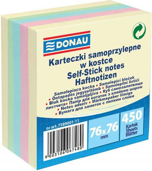 Donau Notes Mix Samoprzylepny 76X76 (7589001-11) 1