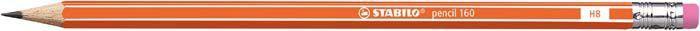 Stabilo Ołówek Pencil 160 Z Gumką Hb Orange (2160/03-HB) 1
