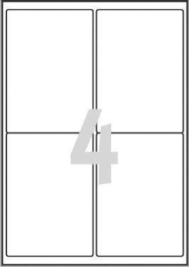 Avery Zweckform ETYK.ZF L4774 99,1X139 A4 20 ARK.WOD/80/ ETYKIETA - L4774-20 1