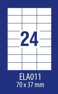 Avery Zweckform ETYK.ZF ECONOMY 70X37,1MM 011 100ARK ETYKIETA E100 ELA011 - ELA011 1