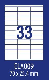 Avery Zweckform ETYK.ZF ECONOMY 70X25,4MM 009 100ARK ETYKIETA E100 ELA009 - ELA009 1