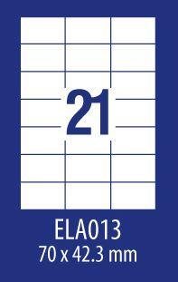 Avery Zweckform ETYK.ZF ECONOMY 70X42,3MM 013 100ARK ETYKIETA E100 ELA013 - ELA013 1