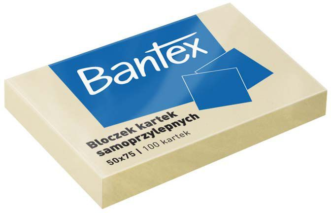 Bantex NOTES SAMOP.50X75 100 ŻÓŁTY BANTEX - 400086385 1