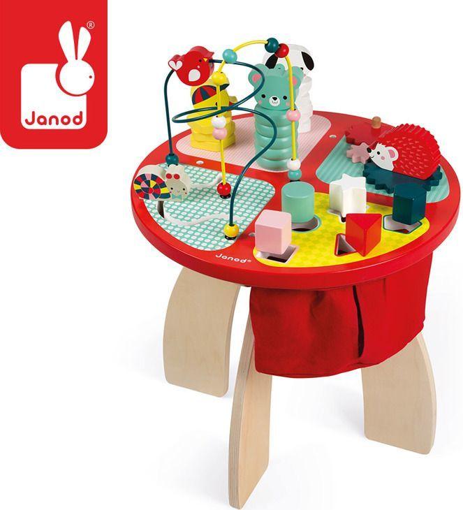 Janod Stolik edukacyjny duży drewniany Baby Forest, JANOD - J08018 1