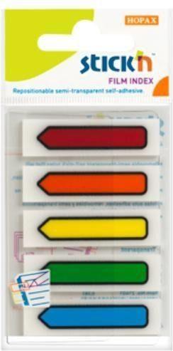 Stickn Zakładki indeks. samoprz. mix 5 kol. neon strzałki (155301) 1
