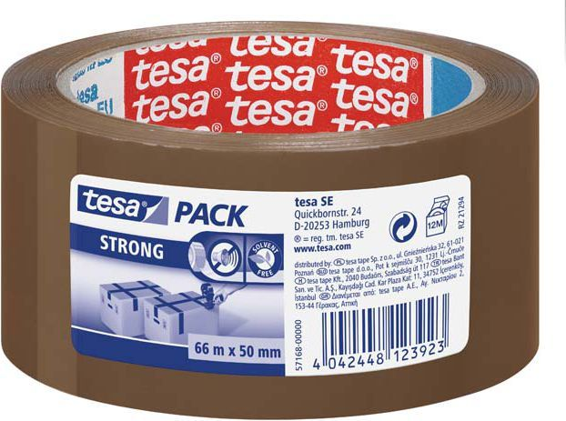 Tesa Taśma pakowa brązowa 50mm/66m (57168-00000-05 TS) 1
