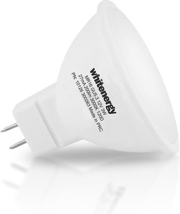 Whitenergy żarówka LED GU5.3, 8 x SMD 2835, 7W, mleczne, MR16 (10368) 1