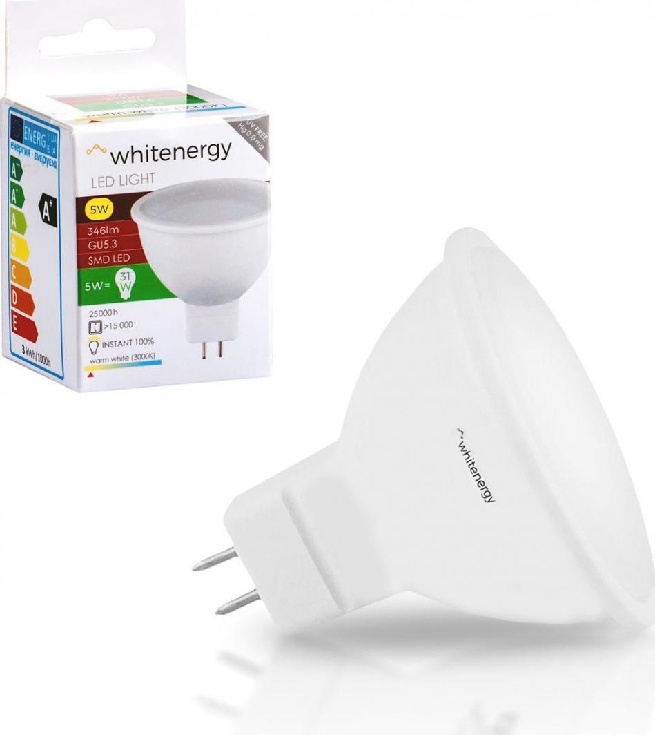 Whitenergy żarówka LED GU5.3, 10 x SMD 2835, 5W, mleczne, MR16 (10367) 1