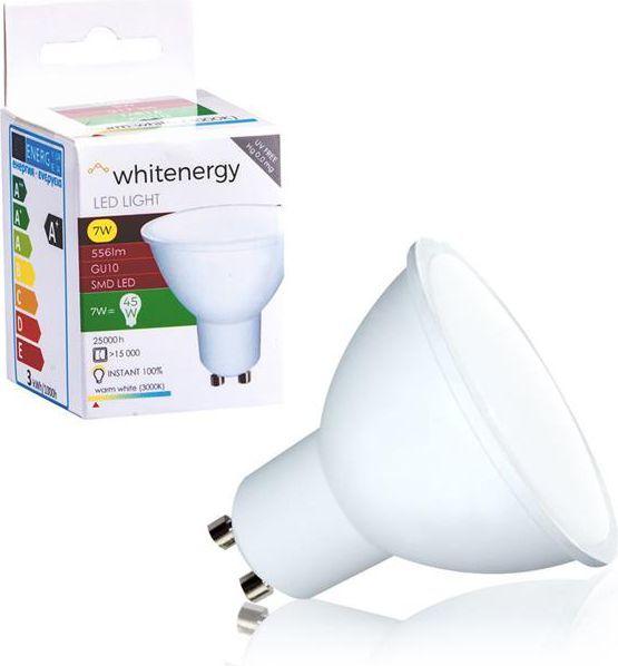 Whitenergy żarówka LED GU10, 8 x SMD 2835, 7W, mleczne, MR16 (10365) 1