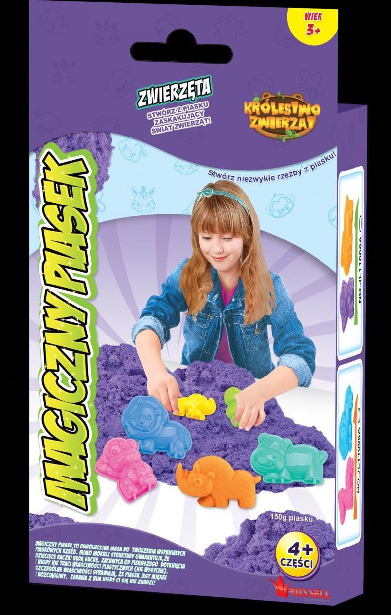 Russell Magiczny piasek Zestaw mini zwierzęta fioletowy ID produktu: 1481495
