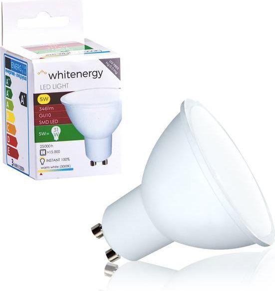 Whitenergy żarówka LED GU10, 10 x SMD 2835, 5W, mleczne, MR16 (10364) 1