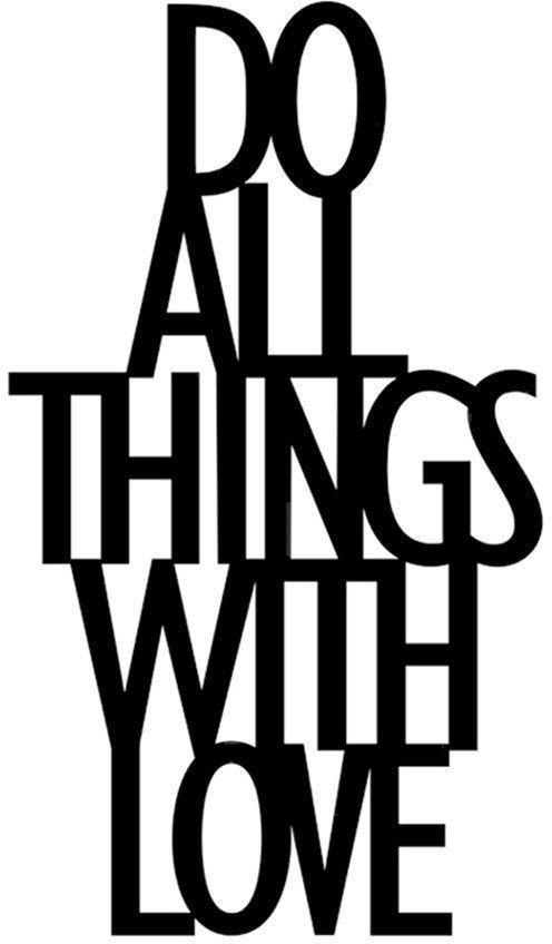 DekoSign Napis dekoracyjny 3D na półkę DO ALL THINGS WITH LOVE czarny (DAT1-1) 1