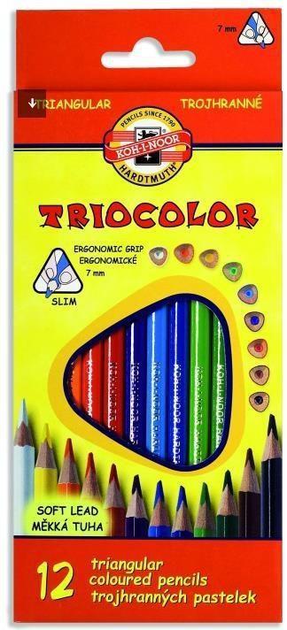 Koh-I-Noor Kredki Triocolor 7mm 12 kolorów 1