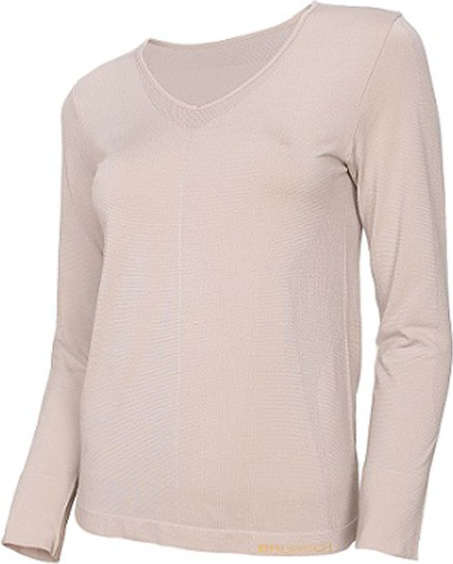 Brubeck Koszulka damska z długim rękawem COMFORT NIGHT r.S beżowa (LS12910) 1