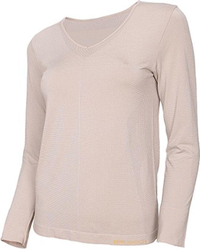 Brubeck Koszulka damska z długim rękawem COMFORT NIGHT r.M beżowa (LS12910) 1