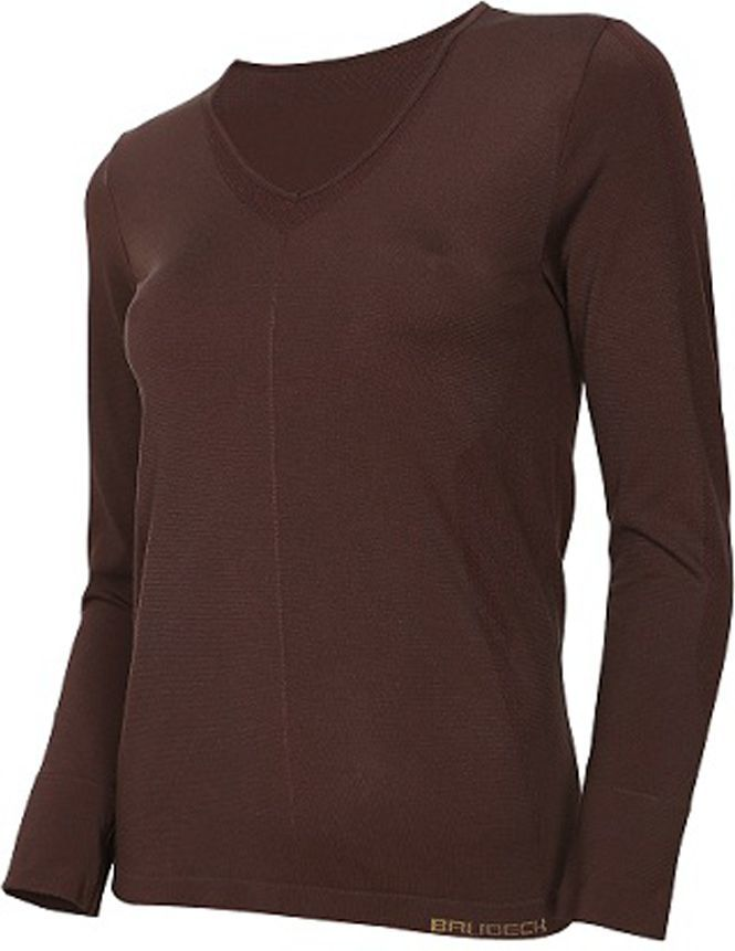 Brubeck Koszulka damska z długim rękawem COMFORT NIGHT r.XL brązowa (LS12910) 1