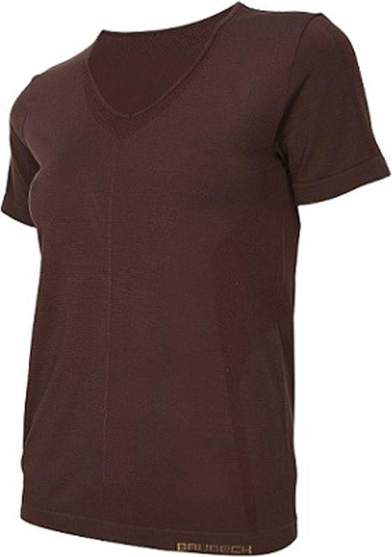 Brubeck Koszulka damska z krótkim rękawem Comfort Night brązowa r. M (SS11790) 1