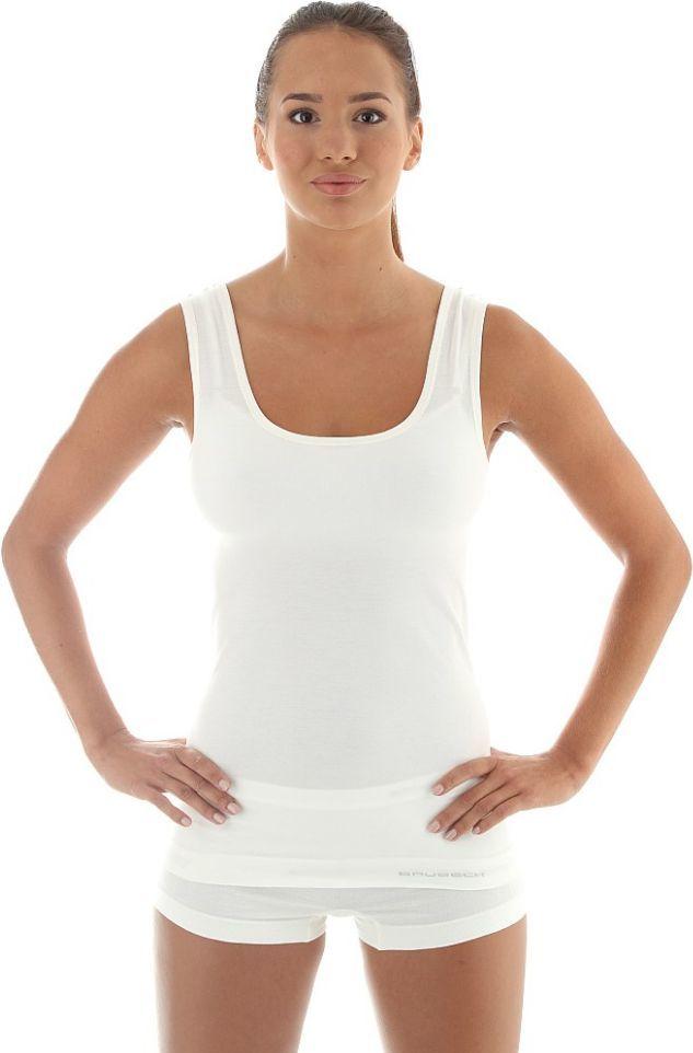 Brubeck Koszulka damska bez rękawów COMFORT WOOL biała r. M (TA10170) 1