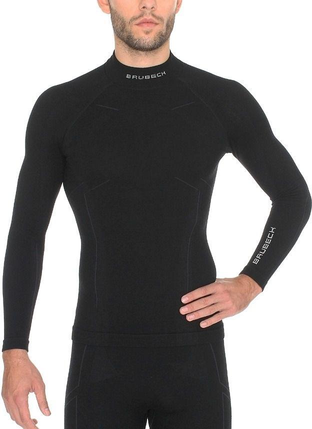 Brubeck Bluza męska Wool czarna r. XXL (LS11920) 1