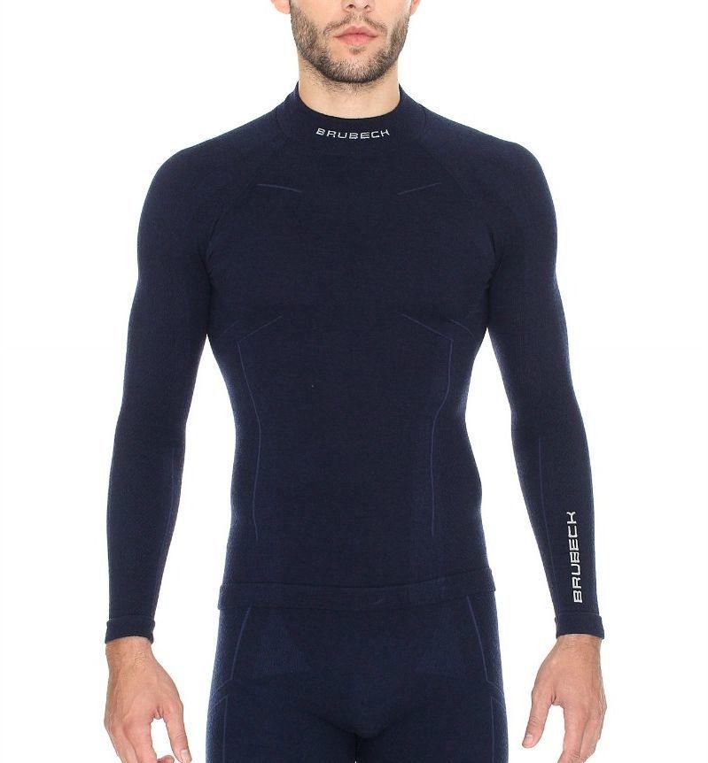Brubeck Bluza męska Extreme Wool granatowa r. XXL (LS11920) 1