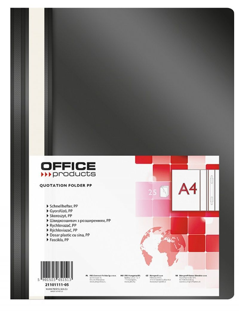 Office Products SKOR.OFFICE PRODUCTS A4 CZARNY SKOROSZYT - 21101111-05 1
