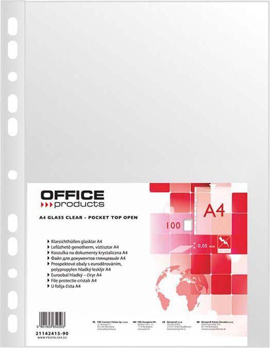 Office Products Koszulki krystaliczne A4 50mic. 100szt. (21142415-90) 1