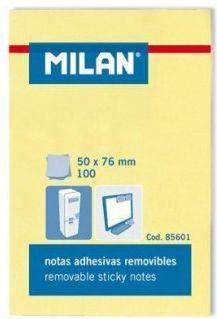 Milan Karteczki samoprzylepne 50x75, 100 sztuk 1