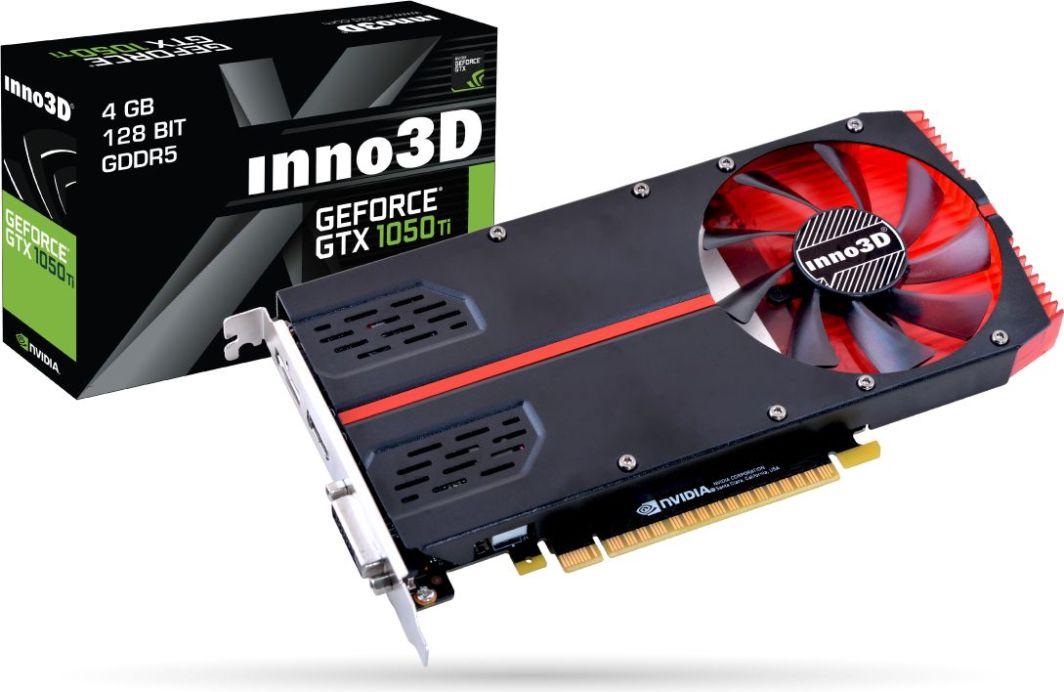 Karta graficzna Inno3D GeForce GTX 1050Ti Compact 4GB GDDR5 (N105T2-1SDV-M5CM) 1