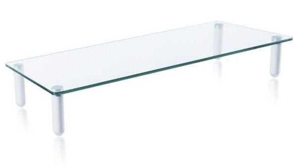 """Techly Podstawka pod monitor do 32"""", szklana, biała (028504) 1"""