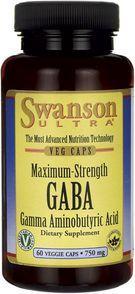 Swanson GABA Forte 750mg 60 kaps. 1
