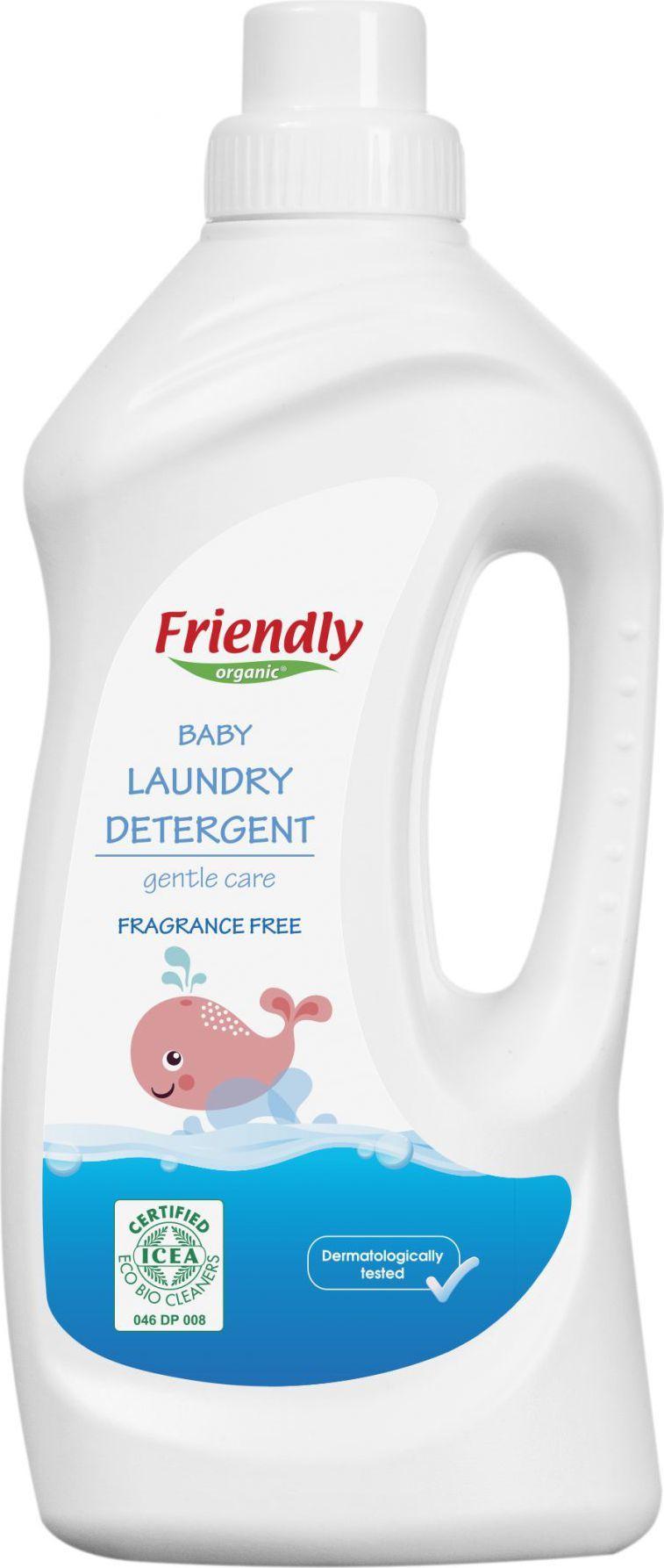 Friendly Organic Płyn do prania ubranek dziecięcych, bezzapachowy 1L (FRO01666) 1